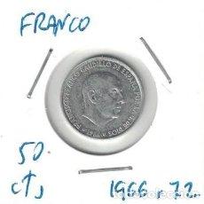 Monedas Franco: MONEDAS - GENERAL FRANCO - 50 CENTIMOS 1966 *72. Lote 277528353
