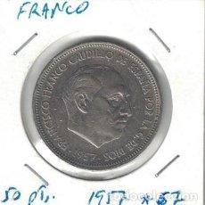 Monedas Franco: MONEDAS - GENERAL FRANCO - 50 PESETAS 1957 *67. Lote 277592763