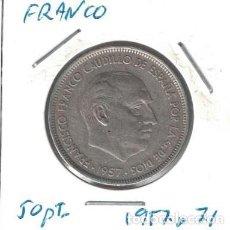 Monedas Franco: MONEDAS - GENERAL FRANCO - 50 PESETAS 1957 *71. Lote 277593123