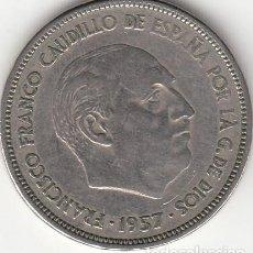 Monedas Franco: ESTADO ESPAÑOL: 25 PESETAS 1957 ESTRELLA 64. Lote 277608438