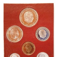 Monedas Franco: CARTERA OFICIAL FNMT 1973 SIN CIRCULAR PROOF 6 VALORES 50-25-5-1 PESETAS 50 Y 10 CÉNTIMOS. Lote 277621153