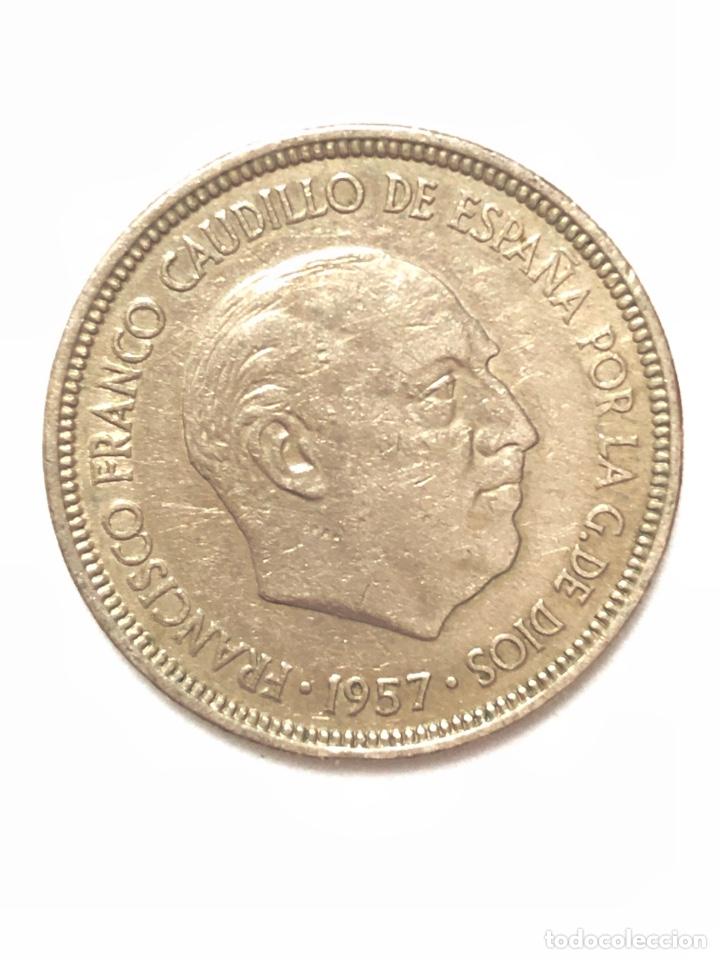 5 PESETAS DE 1957 ESTRELLA DEL 72. (Numismática - España Modernas y Contemporáneas - Estado Español)