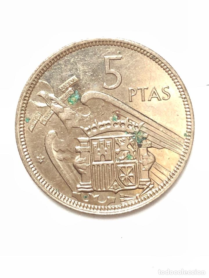 Monedas Franco: 5 pesetas de 1957 estrella del 72. - Foto 2 - 278553063