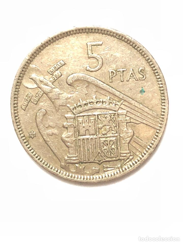 Monedas Franco: 5 pesetas de 1957 estrella del 72. - Foto 2 - 278553278
