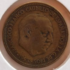 Monedas Franco: 2,50 PESETAS 1953 *54 MBC- LISTEL DESCENTRADO. Lote 278927753
