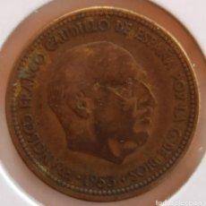 Monedas Franco: 2,50 PESETAS 1953 *54 BC LISTEL DESCENTRADO. Lote 278928873