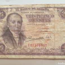 Monedas Franco: BILLETE 25 PESETAS MADRID BANCO DE ESPAÑA 1946 SERIE I. Lote 284736058
