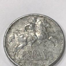 Monnaies Franco: MONEDA 10 CÉNTIMOS 1941 JINETE, VARIEDAD CON LEYENDA PLVS ,PERFECTAMENTE VISIBLE, LOTE 1. Lote 284799078