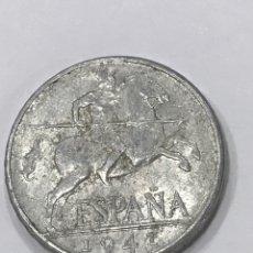 Monnaies Franco: MONEDA 10 CÉNTIMOS JINETE 1941 MBC VARIEDAD LEYENDA PLVS PERFECTAMENTE VISIBLE LOTE 2. Lote 284800723