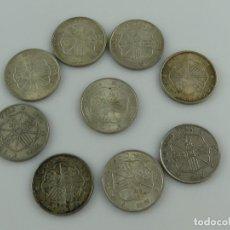 Monedas Franco: COLECCION LOTE DE 9 MONEDAS DE PLATA DE 100 PESETAS DE FRANCO 1966. Lote 285406948