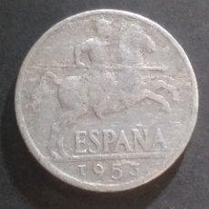 Monedas Franco: MONEDA 10 CENTIMOS ESPAÑA AÑO 1954 SEÑALES DE USO. Lote 287170948