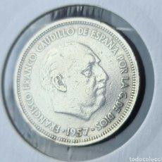 Monedas Franco: LA MAS ESCASA DE SU SERIE, 25 PESETAS 1957 *58. Lote 287511878