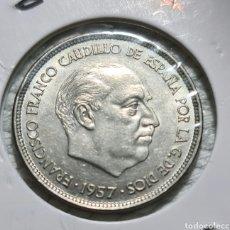 Monedas Franco: 25 PESETAS 1957 *75 SIN CIRCULAR. Lote 287581498
