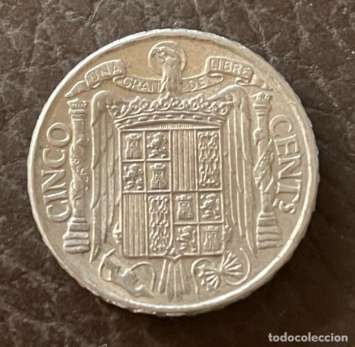 Monedas Franco: 5 CENTIMOS FRANCO 1941 EBC+ BRILLO ORIGINAL - Foto 2 - 287795423