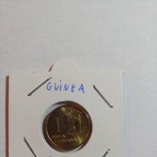 Monedas Franco: MONEDA DE GUINEA 1 PESETA DEL AÑO 1969 ESTRELLA 69 SIN CIRCULAR. Lote 288922053