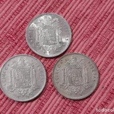 Monedas Franco: 3 X 5 PESETAS 1949 *50 2. Lote 289024168