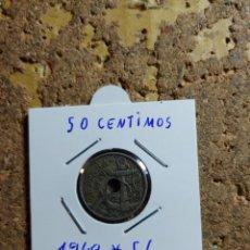 Monedas Franco: MONEDA DEL ESTADO ESPAÑOL DE 50 CENTIMOS DEL AÑO 1949 * 56. Lote 289430558