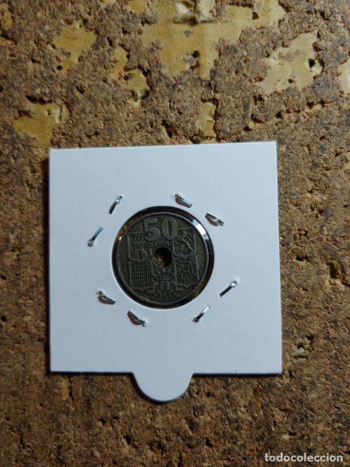 Monedas Franco: MONEDA DEL ESTADO ESPAÑOL DE 50 CENTIMOS DEL AÑO 1949 * 56 - Foto 2 - 289430558