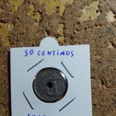 Monedas Franco: MONEDA DEL ESTADO ESPAÑOL DE 50 CENTIMOS DEL AÑO 1949 * 62. Lote 289431678