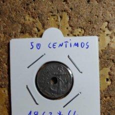 Monedas Franco: MONEDA DEL ESTADO ESPAÑOL DE 50 CENTIMOS DEL AÑO 1963 * 64. Lote 289432758