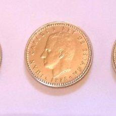 Monedas Franco: ESPAÑA 3 MONEDAS 1 PESETA JUAN CARLOS I S/C 1975 *78 VARIANTE Ñ CHILENA. Lote 289541048