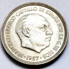 Monedas Franco: ⚜️ EBC+. 5 PESETAS 1957 *60. AF005. Lote 289786858