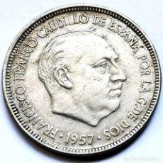 Monedas Franco: ⚜️ FECHA CLAVE. 5 PESETAS 1957 *63. AF009. Lote 289789058