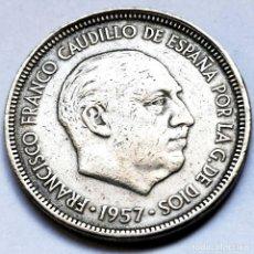 Monedas Franco: ⚜️ FECHA SEMICLAVE. 5 PESETAS 1957 *66. AF011. Lote 289790623