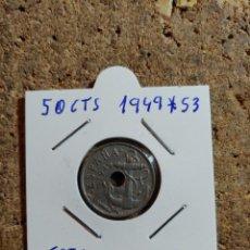 Monedas Franco: MONEDA DEL ESTADO ESPAÑOL DE 50 CENTIMOS DEL AÑO 1949 * 53. Lote 289849903