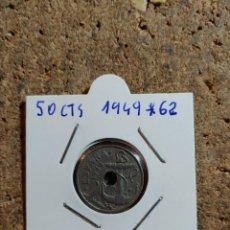 Monedas Franco: MONEDA DEL ESTADO ESPAÑOL DE 50 CENTIMOS DEL AÑO 1949 * 62. Lote 289850133
