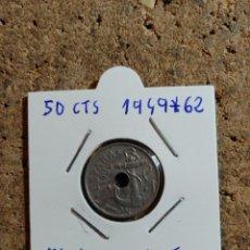 Monedas Franco: MONEDA DEL ESTADO ESPAÑOL DE 50 CENTIMOS DEL AÑO 1949 * 62. Lote 289850198