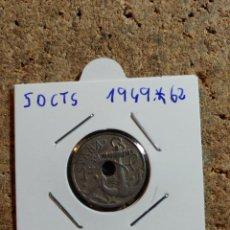 Monedas Franco: MONEDA DEL ESTADO ESPAÑOL DE 50 CENTIMOS DEL AÑO 1949 * 62. Lote 289850358