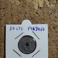 Monedas Franco: MONEDA DEL ESTADO ESPAÑOL DE 50 CENTIMOS DEL AÑO 1963 * 64. Lote 289850593