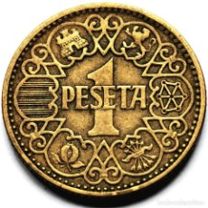 Monedas Franco: ⚜️ A2242. 1 PESETA 1944. BUEN EJEMPLAR. Lote 289894543