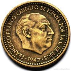 Monedas Franco: ⚜️ A2206. *50. FECHA CLAVE. 1 PESETA 1947 *50. PLUS ULTRA. Lote 289894998