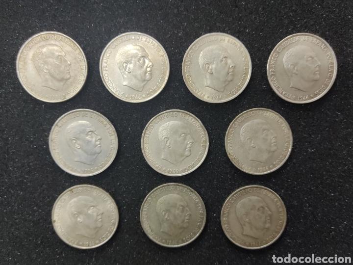 LOTE DE 10 MONEDAS DE 100 PESETAS DE PLATA DE 1966 (Numismática - España Modernas y Contemporáneas - Estado Español)