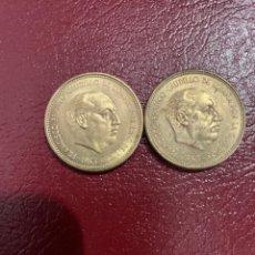 Monedas Franco: 2 MONEDAS DE FRANCO DE 2'50 PESETAS. Lote 293238668