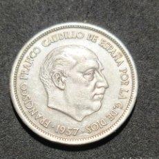Monedas Franco: PRECIOSA MONEDA DE 25 PESETAS 1957 *69 EBC. Lote 293414273