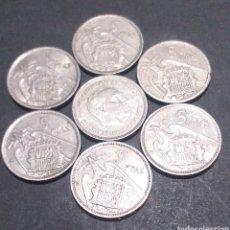 Monedas Franco: LOTE 7 MONEDAS DE 5 PESETAS ESPAÑA AÑO 1957. Lote 293698308