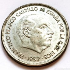 Monedas Franco: ⚜️ 25 PESETAS 1957 *70. AF635. Lote 295346623