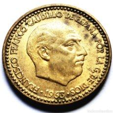 Monedas Franco: ⚜️ FECHA CLAVE. 1 PESETA 1963 *67. AF633. Lote 295347028