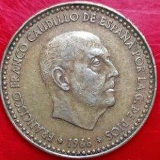 Monedas Franco: S.034. 1 PTA. 1966*75. ERROR EXCESO METAL EN ALAS.. Lote 295384868