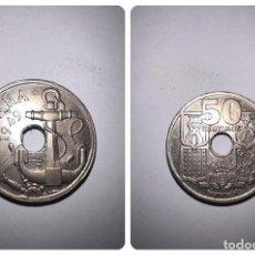 Monedas Franco: MONEDA. ESPAÑA. 50 CÉNTIMOS. 1949. ESTRELLAS *19-51*. FLECHAS INVERTIDAS. S/C. VER FOTOS. Lote 296957808