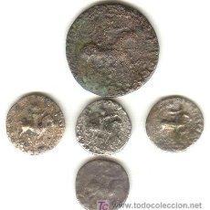 Monedas Grecia Antigua: BARATO LOTE CINCO PIEZAS AZES II UN TETRADRACMA Y CUATRO DRACMAS 35-5 A.C.. Lote 25465937