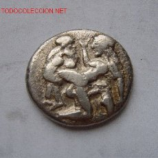 Monedas Grecia Antigua: THASOS/TRACIA STATERA MUY RARA SATIRO Y NINFA FUCKING. Lote 26808463
