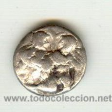 Monedas Grecia Antigua: RARA DRACMA ISLA DE THASOS TRACIA (463-411 A.C.) SATIRO CON NINFA EN BRAZOS PROCEDENTE DE SUBASTA. Lote 16238323