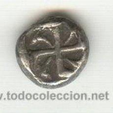 Monedas Grecia Antigua: MONEDA CON SVASTIKA RARA DRACMA DE APOLLONIA PONTIKA TRACIA 450-400 A.C.. Lote 22501088