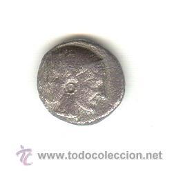 RARA DRACMA DE LAMPSAKOS MYSIA 480-450 A.C. CABEZ JANIFORME CON FICHA PROCEDENTE DE SUBASTA. (Numismática - Periodo Antiguo - Grecia Antigua)