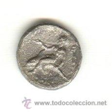 Monedas Grecia Antigua: RARA DIDRACMA TARAS CALABRIA ITALIA 344-334 A.C FICHA DE SUBASTA.. Lote 26853526