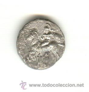 Monedas Grecia Antigua: RARA DIDRACMA TARAS CALABRIA ITALIA 344-334 A.C FICHA DE SUBASTA. - Foto 2 - 26853526